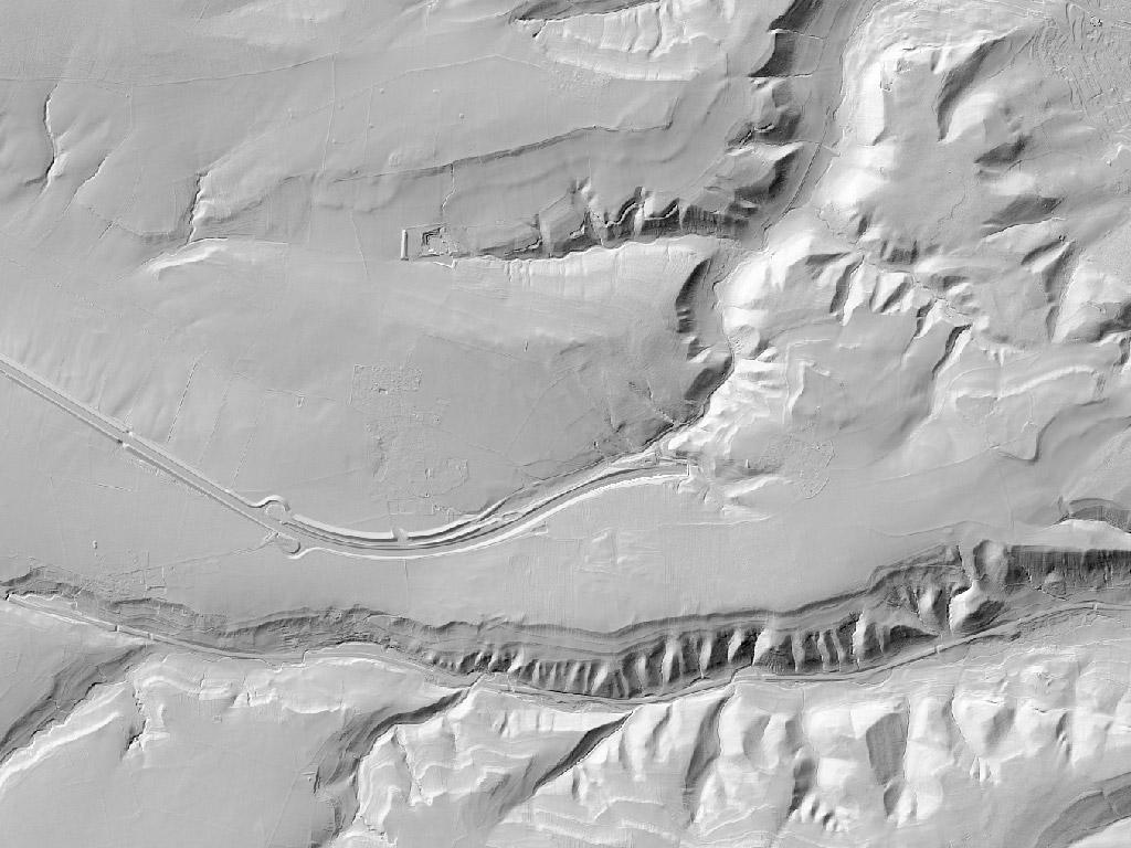 Digitales Geländemodell bei Jena