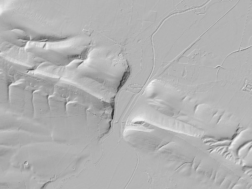 Digitales Geländemodell bei Oldisleben
