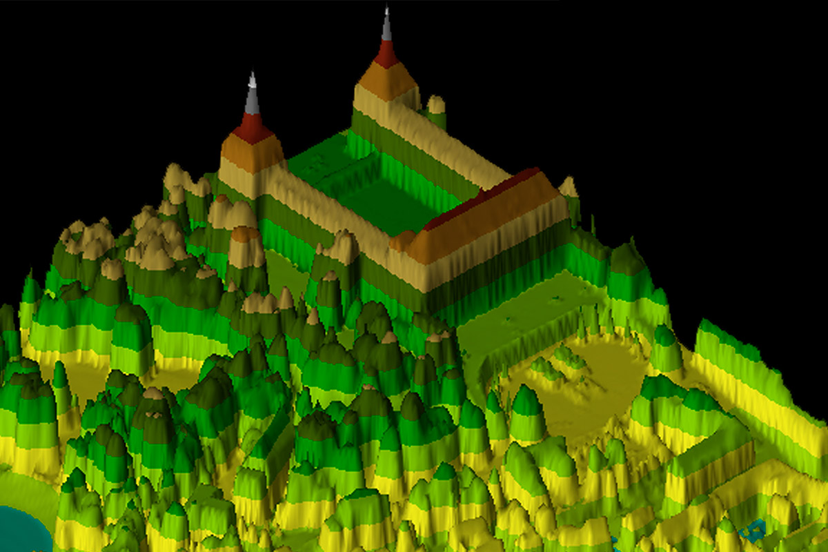 Digitales Oberflächenmodell von Schloss Friedenstein in Gotha – 3D-Ansicht