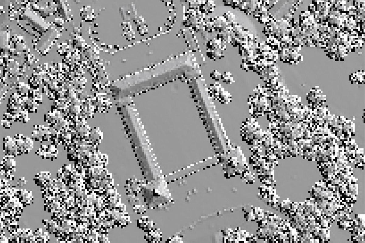 Digitales Oberflächenmodell von Schloss Friedenstein in Gotha – Draufsicht