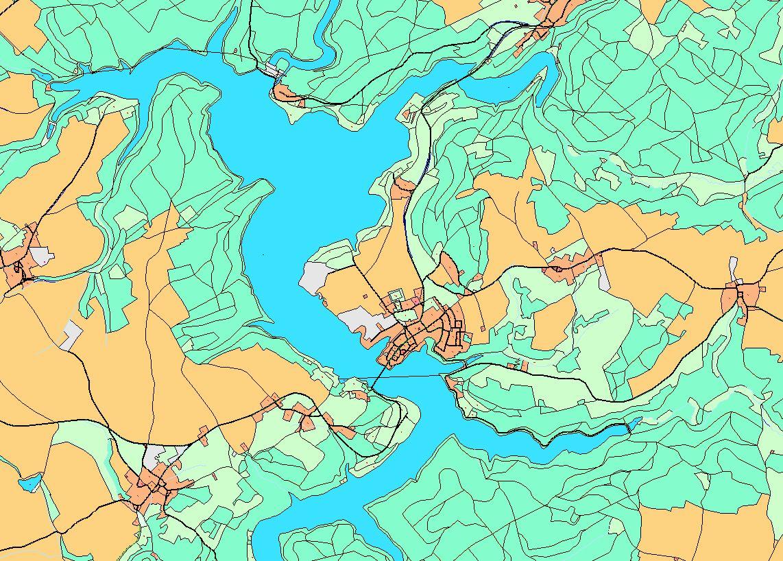 Digitales Landschaftsmodell 1:50 000 – DLM50 – Bleiloch-Talsperre