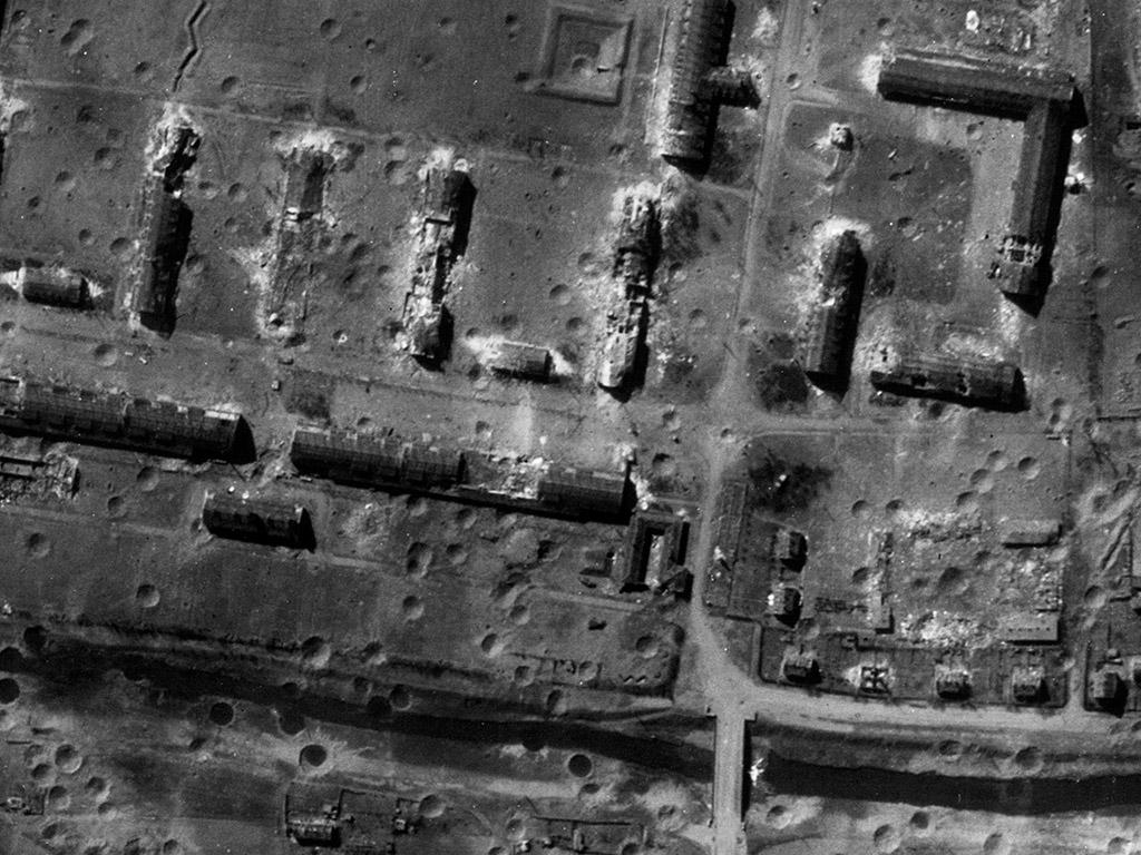 Historisches Luftbild von Nordhausen 1945
