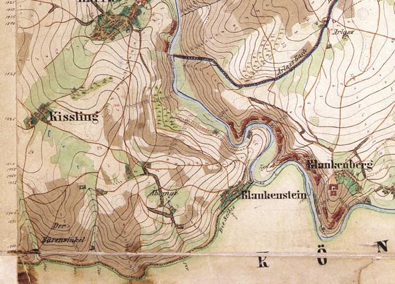 Kartenausschnitt des Kartenblattes 5536 aus dem Jahr 1883