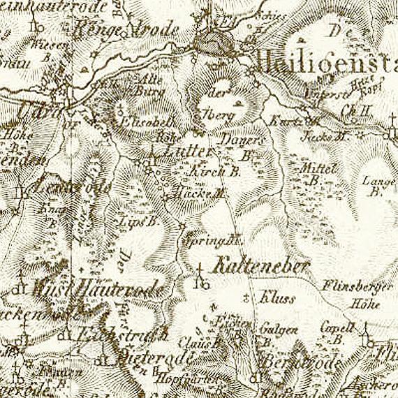 Ausschnitt der Reymann'schen Karte 1:200 000