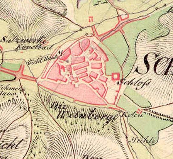 Ausschnitt aus der Schmettau'schen Karte der Herrschaft Schmalkalden