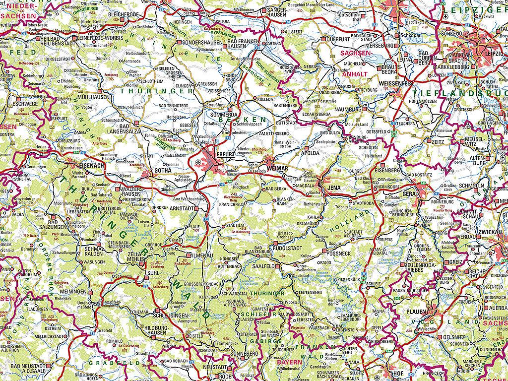 Kartenausschnitt aus einer Wanderkarte 1:50 000