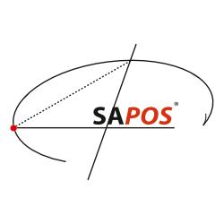 Logo des Satellitenpositionierungsdienstes SAPOS®