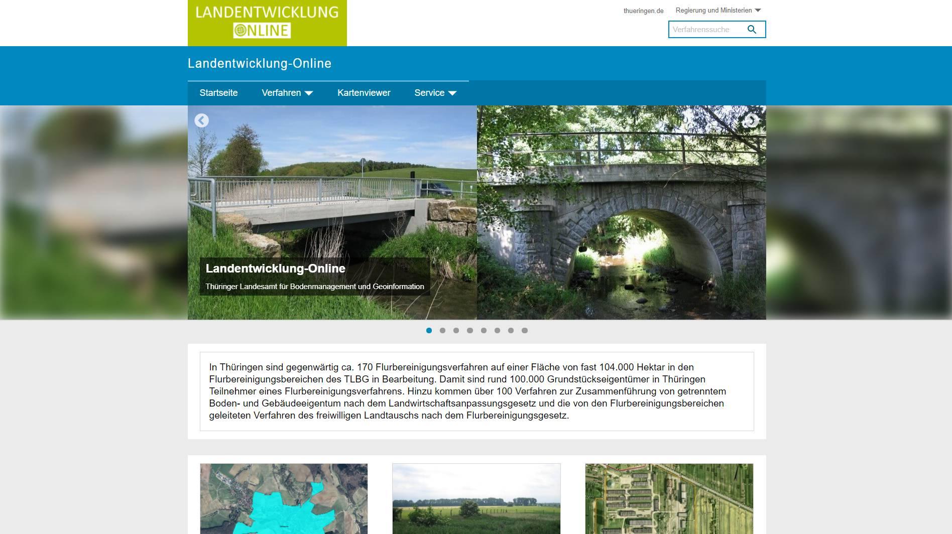 Startansicht von Landentwicklung Online