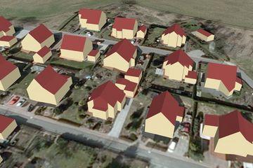 Beispiel 3D-Gebäudemodelle in Level of Detail 2 (LoD2)