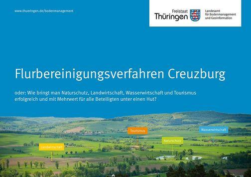 Titelseite der Broschüre zum Flurbereinigungsverfahren Creuzburg