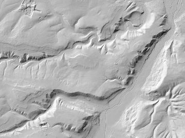 Digitales Geländemodell bei Arnstadt