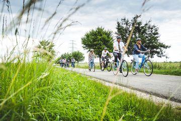 Besichtigung der Wege per Rad