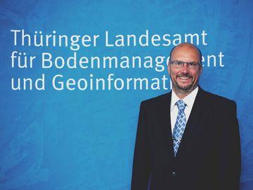 Der Präsident des TLBG Uwe Köhler