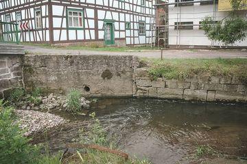 Bachlauf der Lichtenau vor der Umgestaltung des Ufers | Foto: Flurbereinigung Meiningen