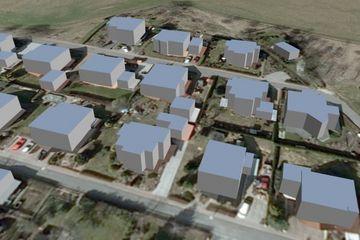 Beispiel 3D-Gebäudemodelle in Level of Detail 1 (LoD1)