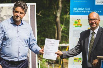 Offizielle Übergabe der Wege an die Stadt Arnstadt durch Präsident Uwe Köhler