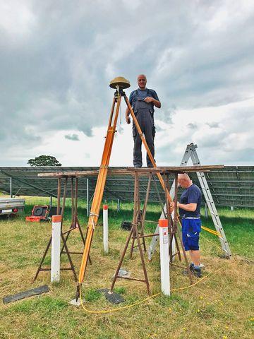 Messung durch zwei Kollegen des TLBG am GGP 4630 in Barth
