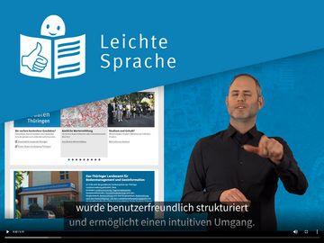 Barrierefreie Informationen des TLBG in Leichter Sprache und Deutscher Gebärdensprache