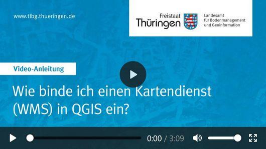Ansicht des Videos mit Titel Wie binde ich einen Kartendienst in QGIS ein?